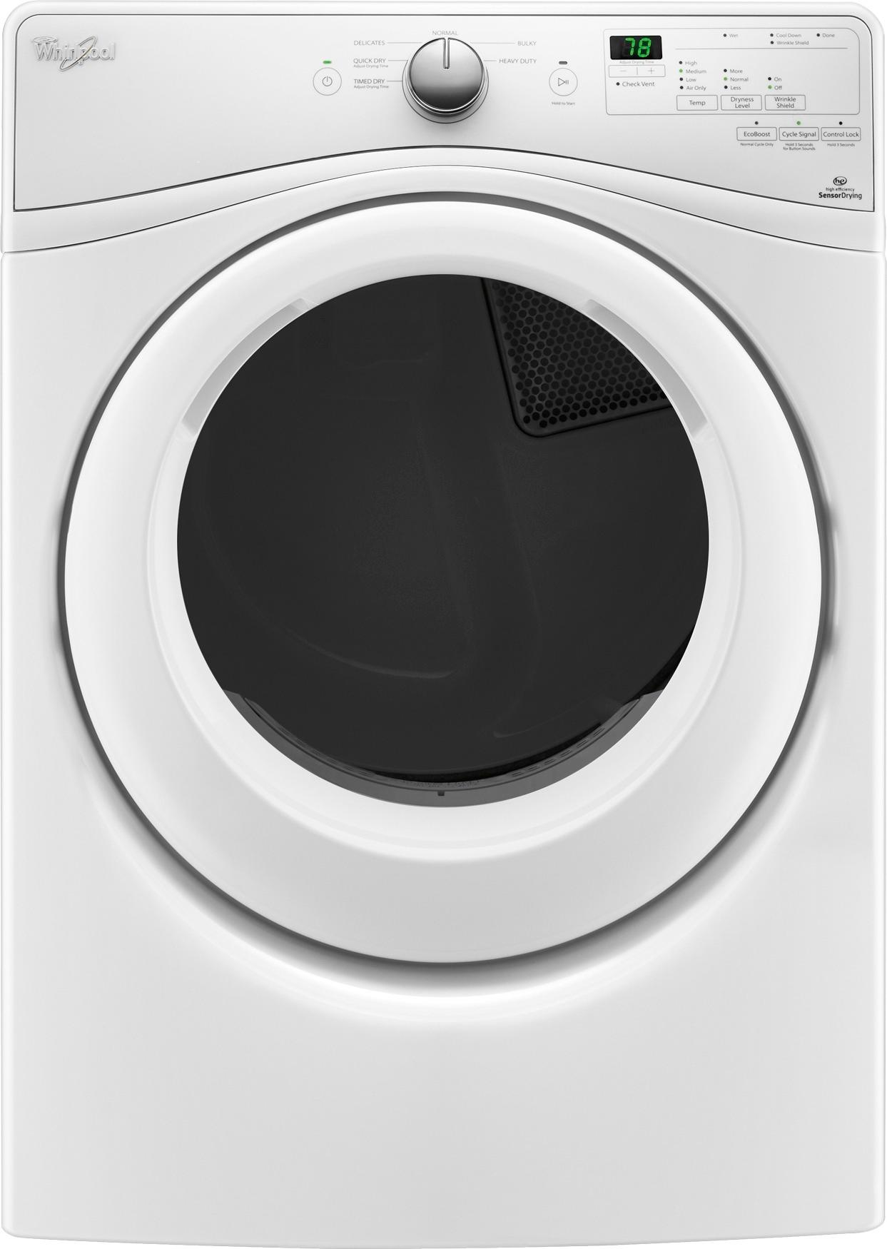 Washer And Dryer Calgary Whirlpool 7 4 Cu Ft 6 Cycle Electric Dryer White