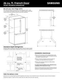 French Door  French Door Refrigerator Measurements Pics ...