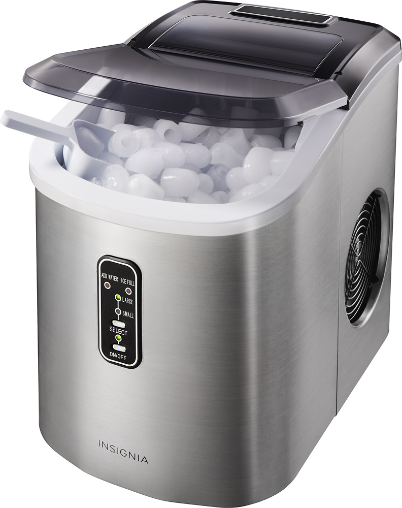 Best Buy 26 Lb Portable Ice Maker Stainless Steel Ns Imp26ss7