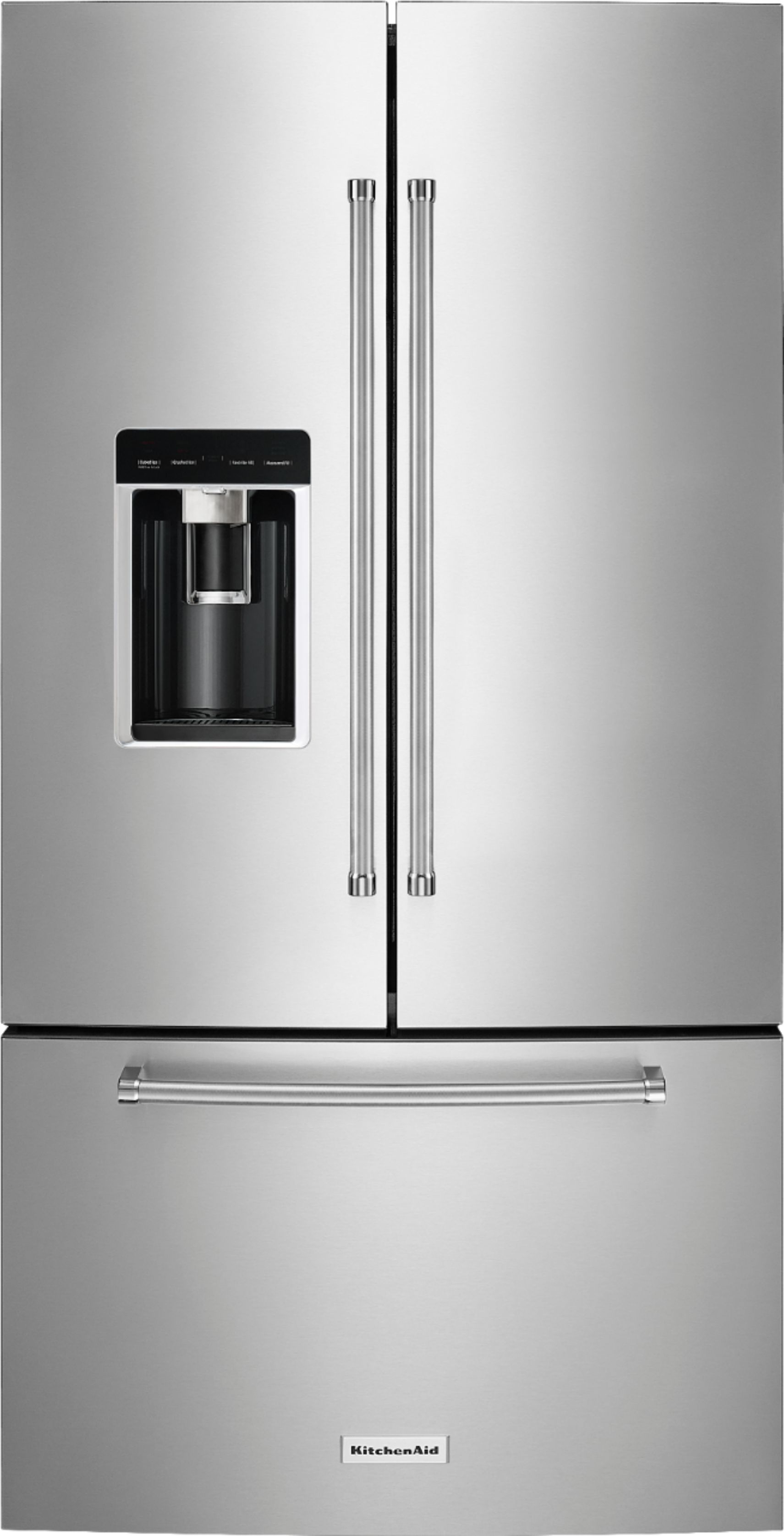 Kitchenaid Krfc300ess Kitchenaid 23 8 Cu Ft French Door Counter Depth Refrigerator Stainless Steel