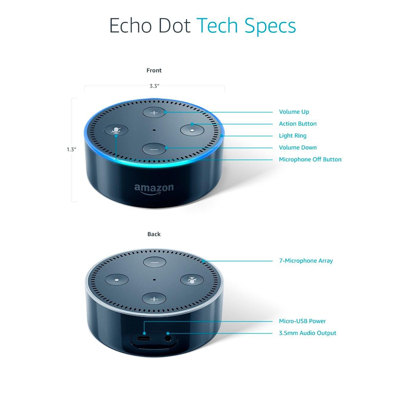 Echo Dot Installation Amazon Echo Dot 2nd Generation Smart Speaker With Alexa Black
