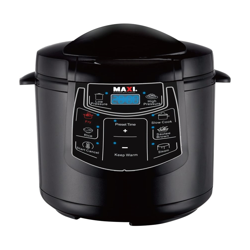 Cucina Kitchen Appliances Chef Di Cucina 6 3 Quart Pressure Cooker Black Gloss