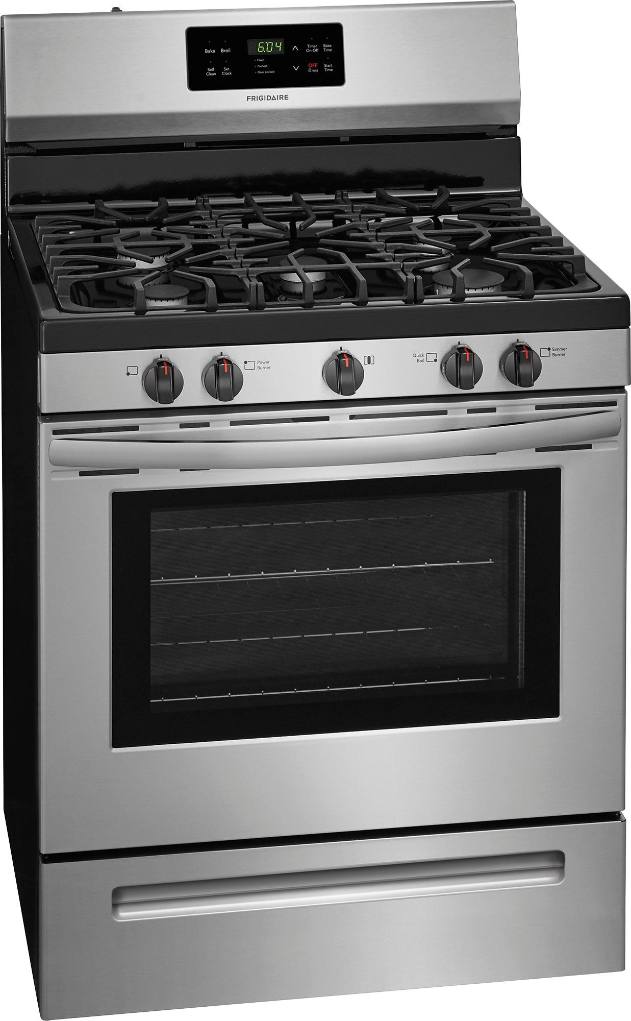 Frigidaire Stove Parts Canada Frigidaire Self Cleaning Freestanding Gas Range Stainless Steel