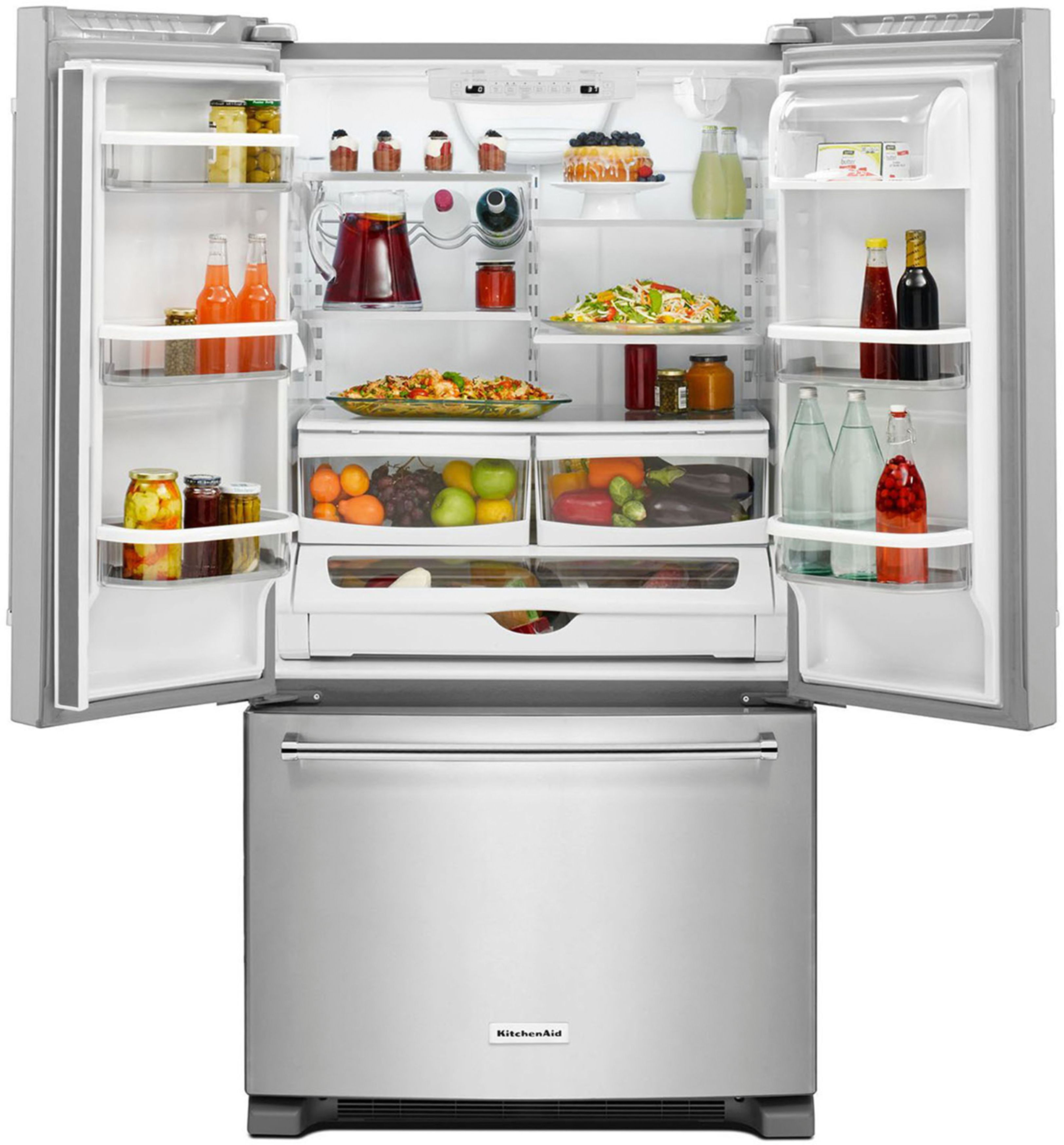 Kitchenaid Krff302ess Kitchenaid 20 Cu Ft French Door Counter Depth Refrigerator Stainless Steel