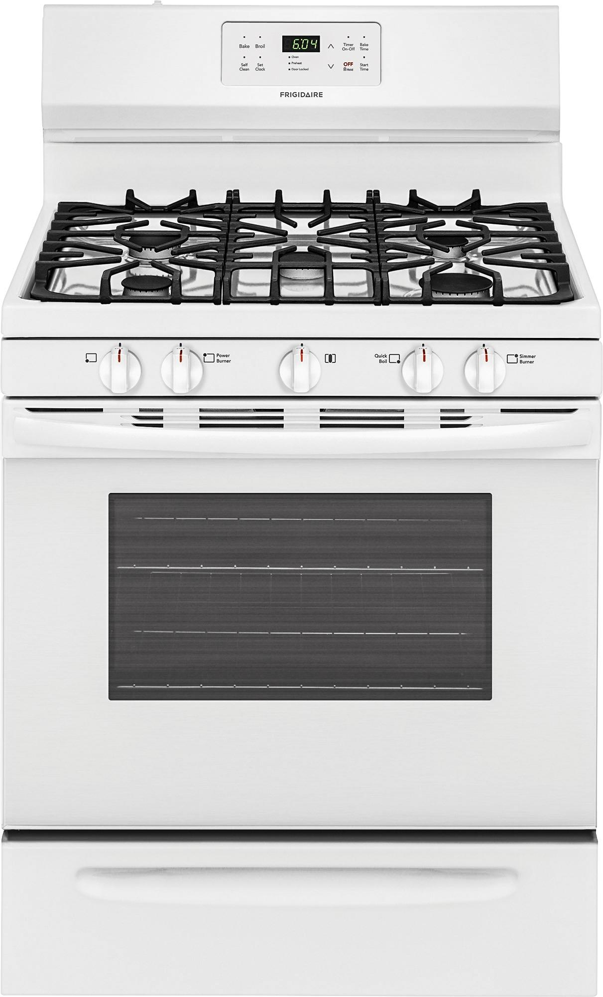 Frigidaire Stove Parts Canada Frigidaire 5 Cu Ft Self Cleaning Freestanding Gas Range White