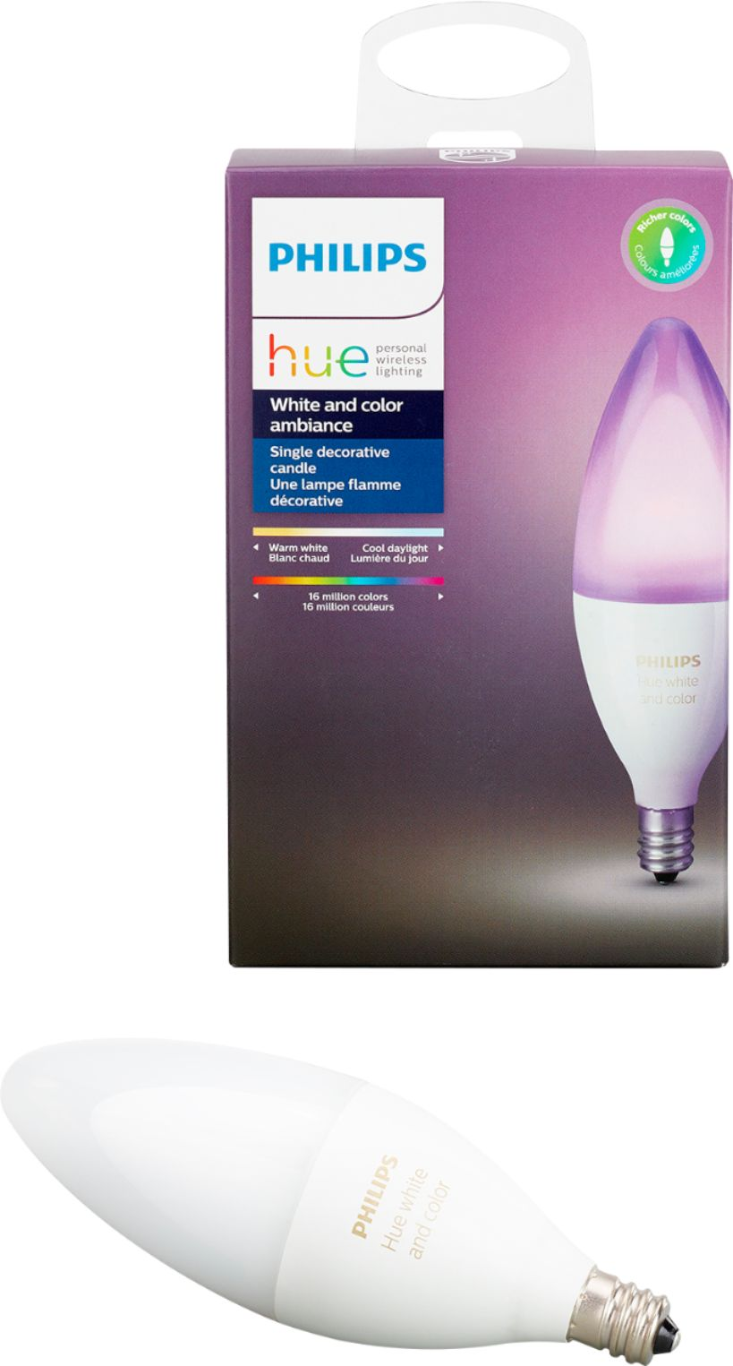 Philips Wireless Led Lights Philips Hue White And Color Ambiance E12 Wi Fi Smart Led Decorative Candle Bulb Multicolor