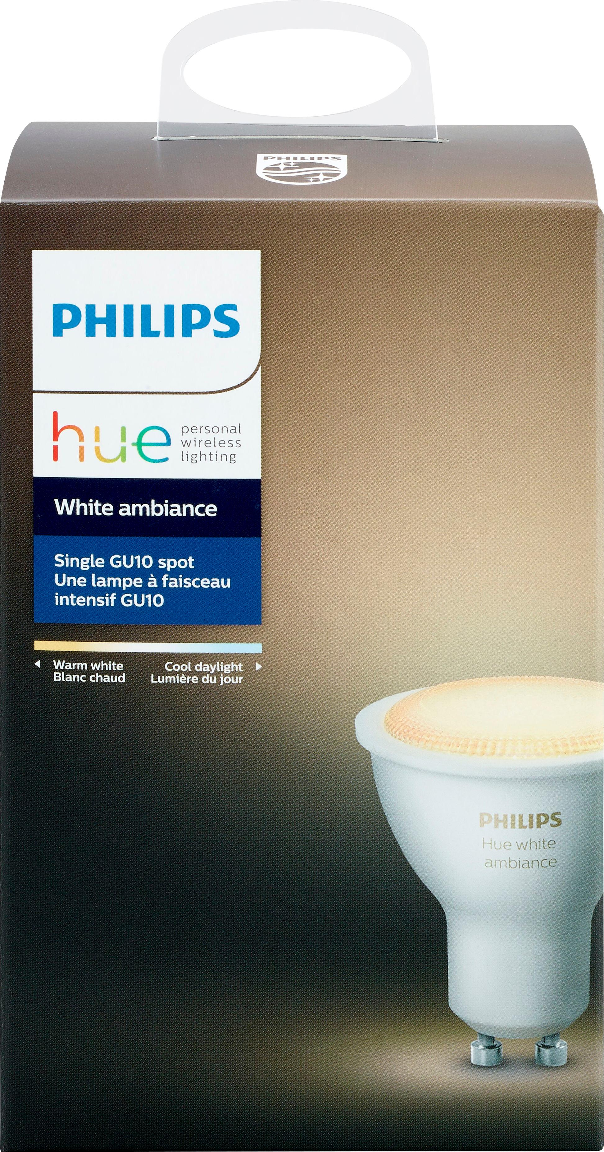 Hue G10 Philips Hue White Ambiance Gu10 Wi Fi Smart Led Bulb White