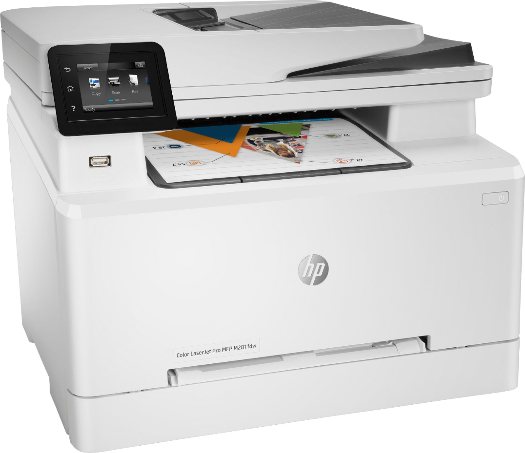 All In One Hp Laserjet Pro Mfp M281fdw Color Wireless All In One Printer White