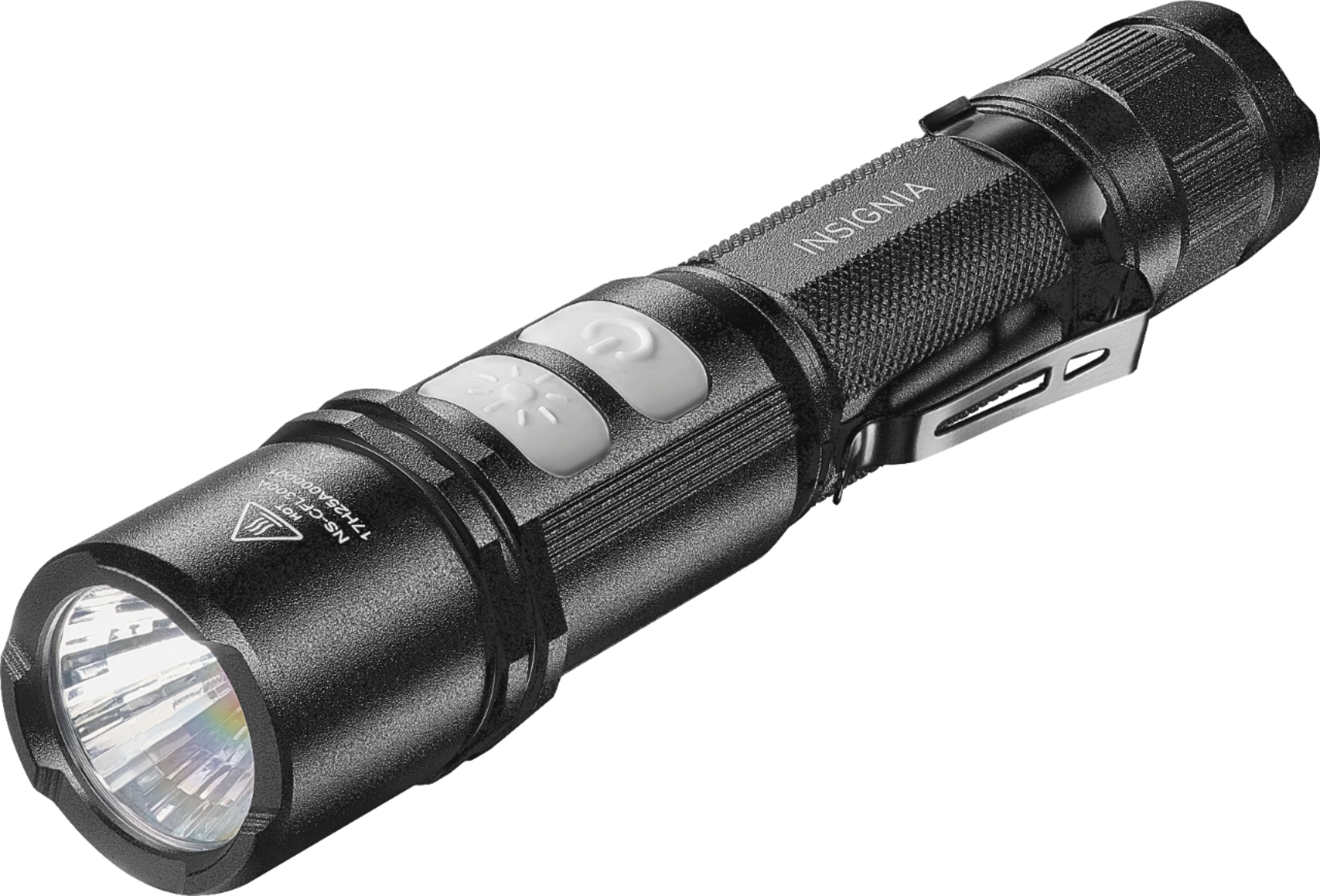 Flash Light Insignia 800 Lumen Rechargeable Led Flashlight Black