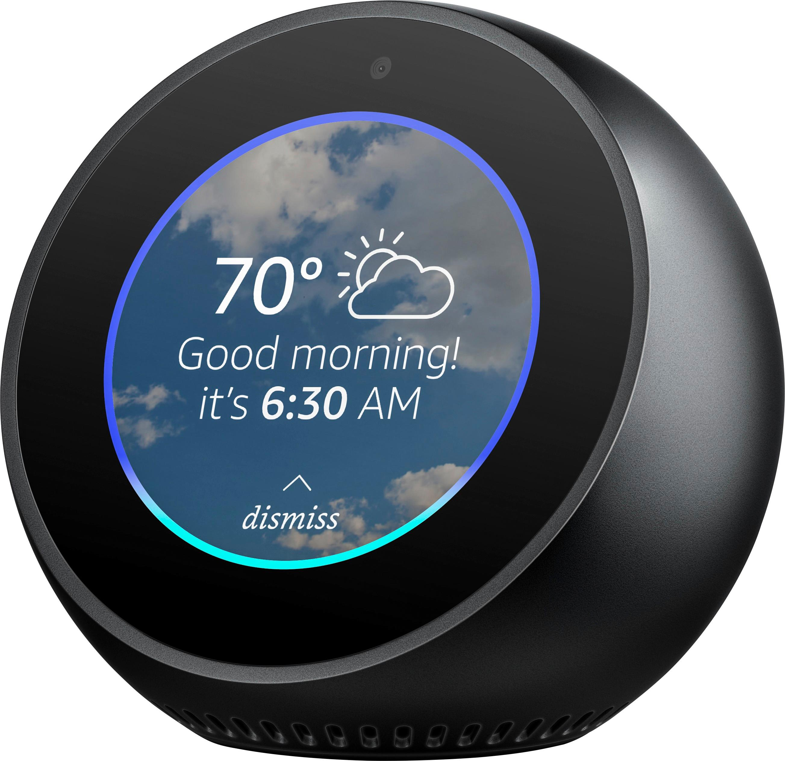 ???echo Amazon Echo Spot Smart Alarm Clock With Alexa Black