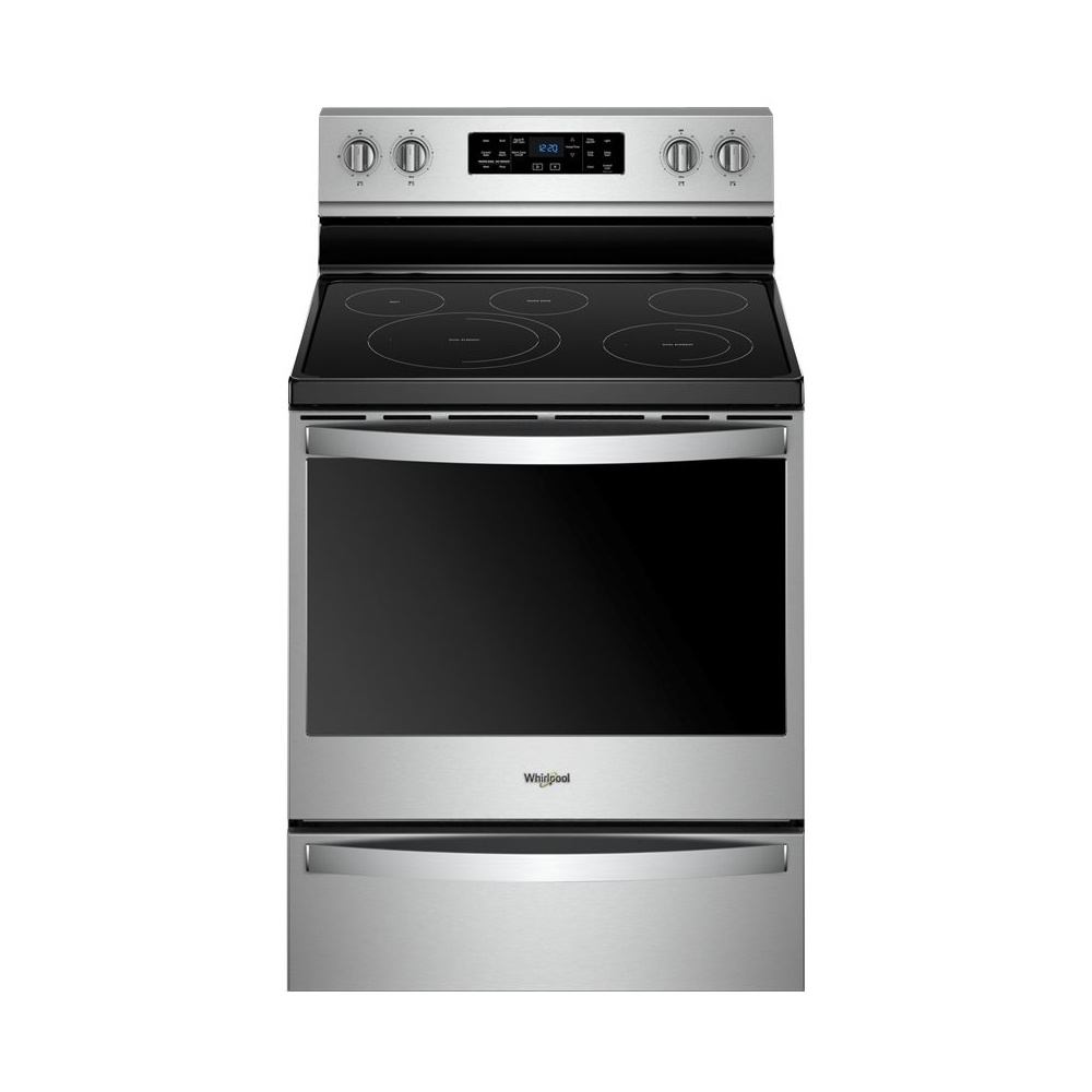 Whirlpool Appliances Canada Whirlpool 6 4 Cu Ft Self Cleaning Freestanding Electric Convection Range Stainless Steel