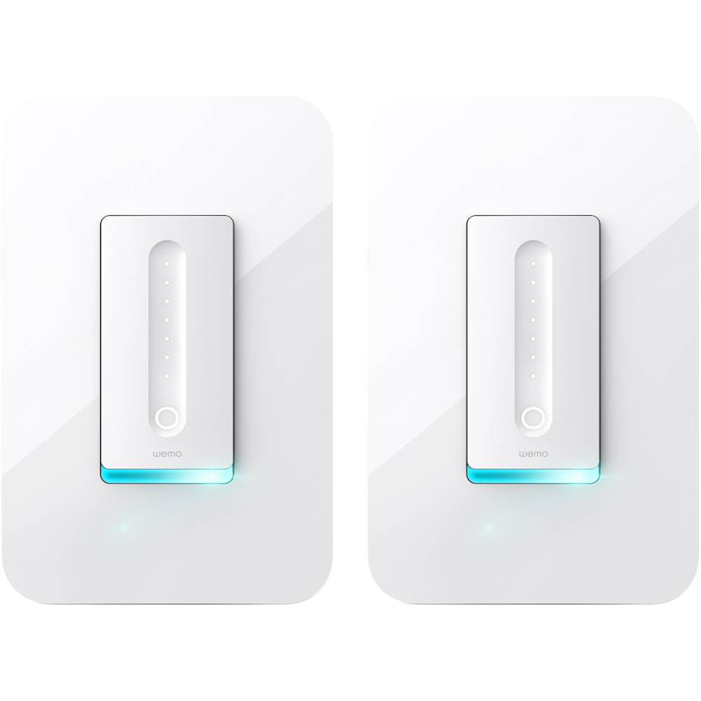Dimmer Switch Wemo Wi Fi Smart Dimmer Switch 2 Pack White