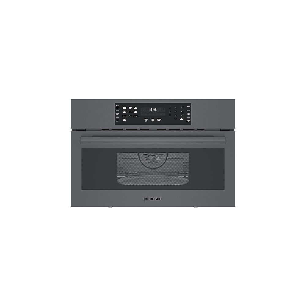 Bosch Microwave Bosch 800 Series 1 6 Cu Ft Built In Microwave Black Stainless Steel