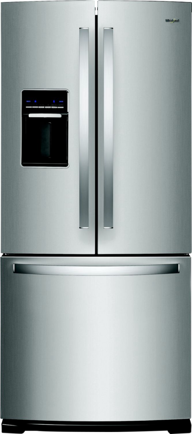 Fridges Canada Whirlpool 19 7 Cu Ft French Door Refrigerator Stainless Steel