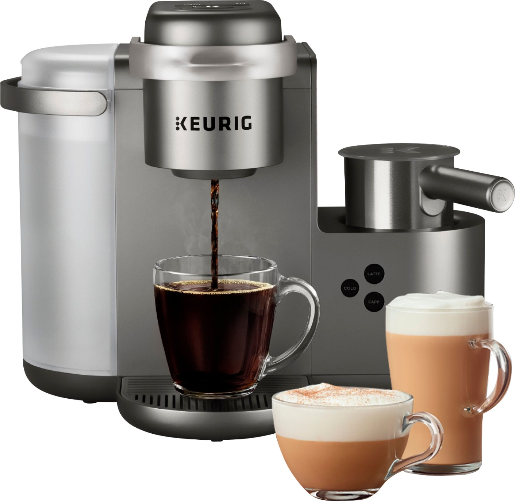 Cappuccino Machine Keurig K Cafe Special Edition Single Serve K Cup Pod Coffee Latte And Cappuccino Maker Nickel