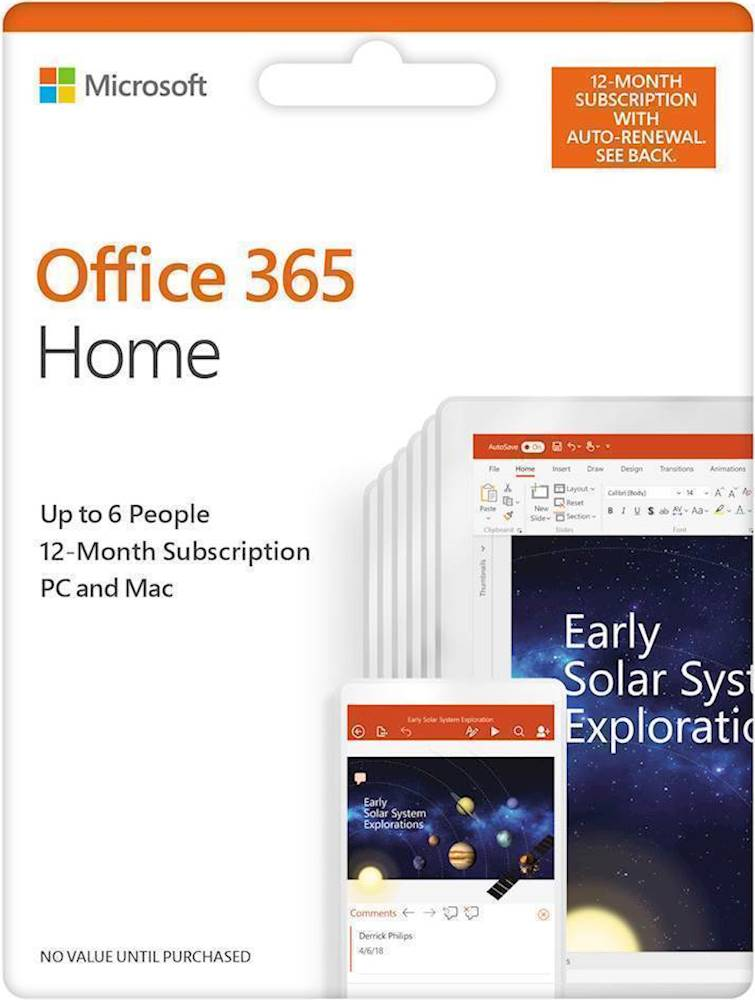 Office 365 Microsoft Access Office 365 Home Up To 6 People 12 Month Subscription Auto Renew Android Mac Windows Ios