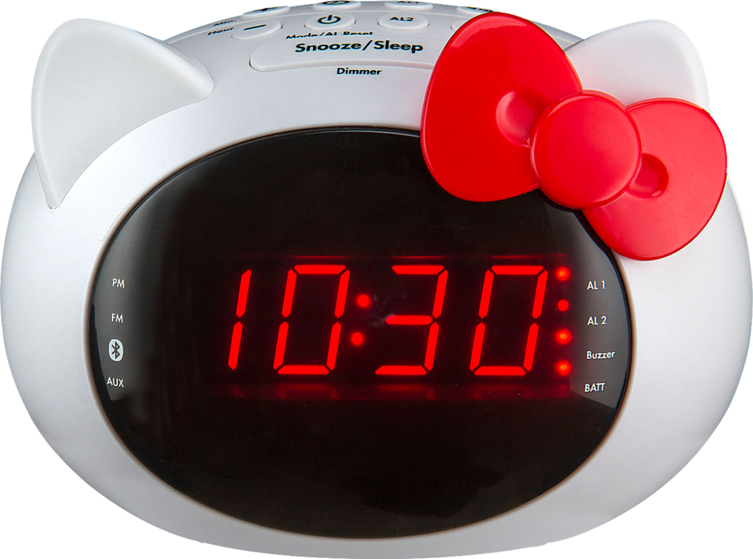 Digital Clock Ekids Digital Fm Clock Radio White Pink Black