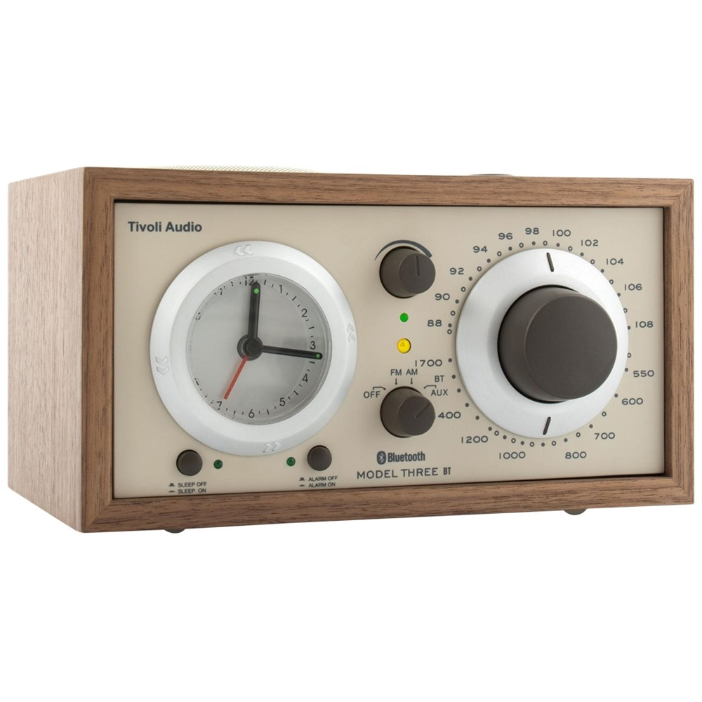 Tivoli Radio Designer Tivoli Audio Analog Am Fm Clock Radio Beige Walnut