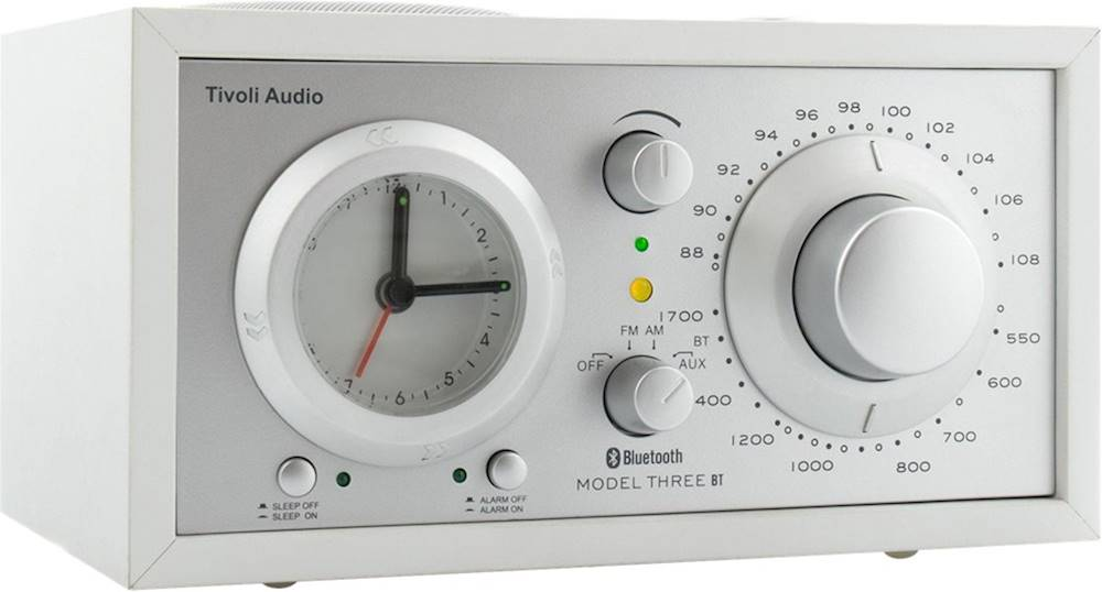 Tivoli Radio Designer Tivoli Audio Analog Am Fm Clock Radio White