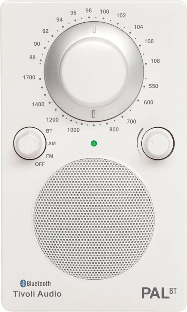 Tivoli Radio Designer Tivoli Audio Pal Analog Am Fm Clock Radio White Glossy White