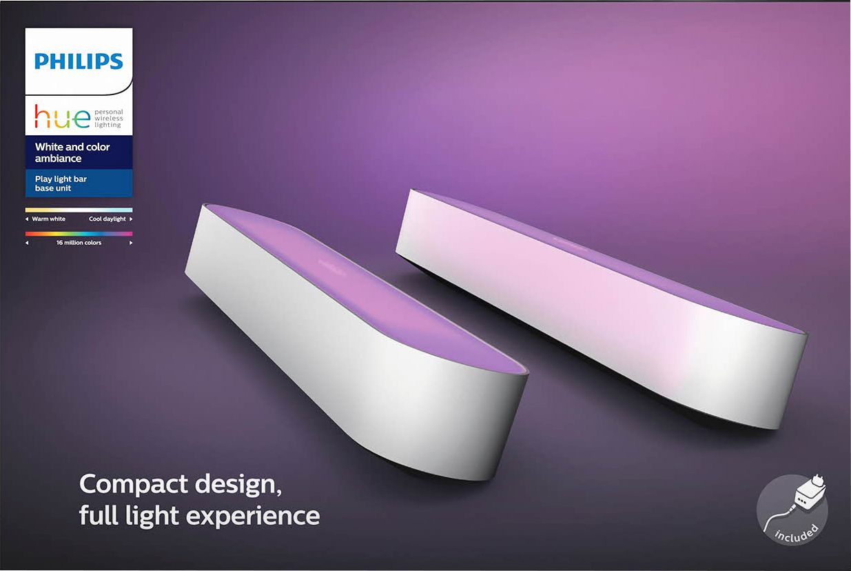Hue Pack Philips Hue Play White Color Ambiance Smart Led Bar Light 2 Pack White