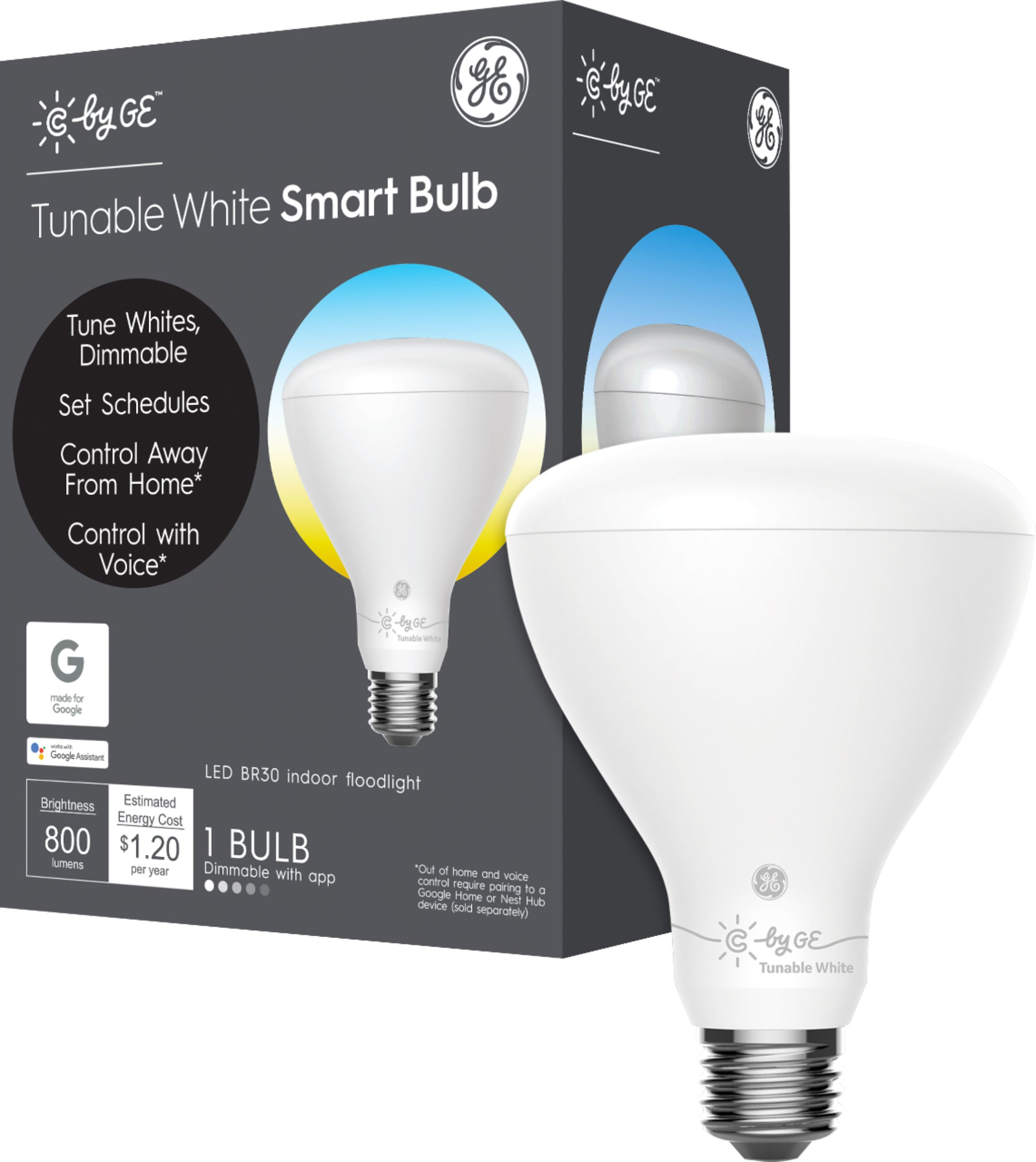 Smart Led Bulb C By Ge C Sleep Br30 Bluetooth Smart Led Bulb Adjustable White