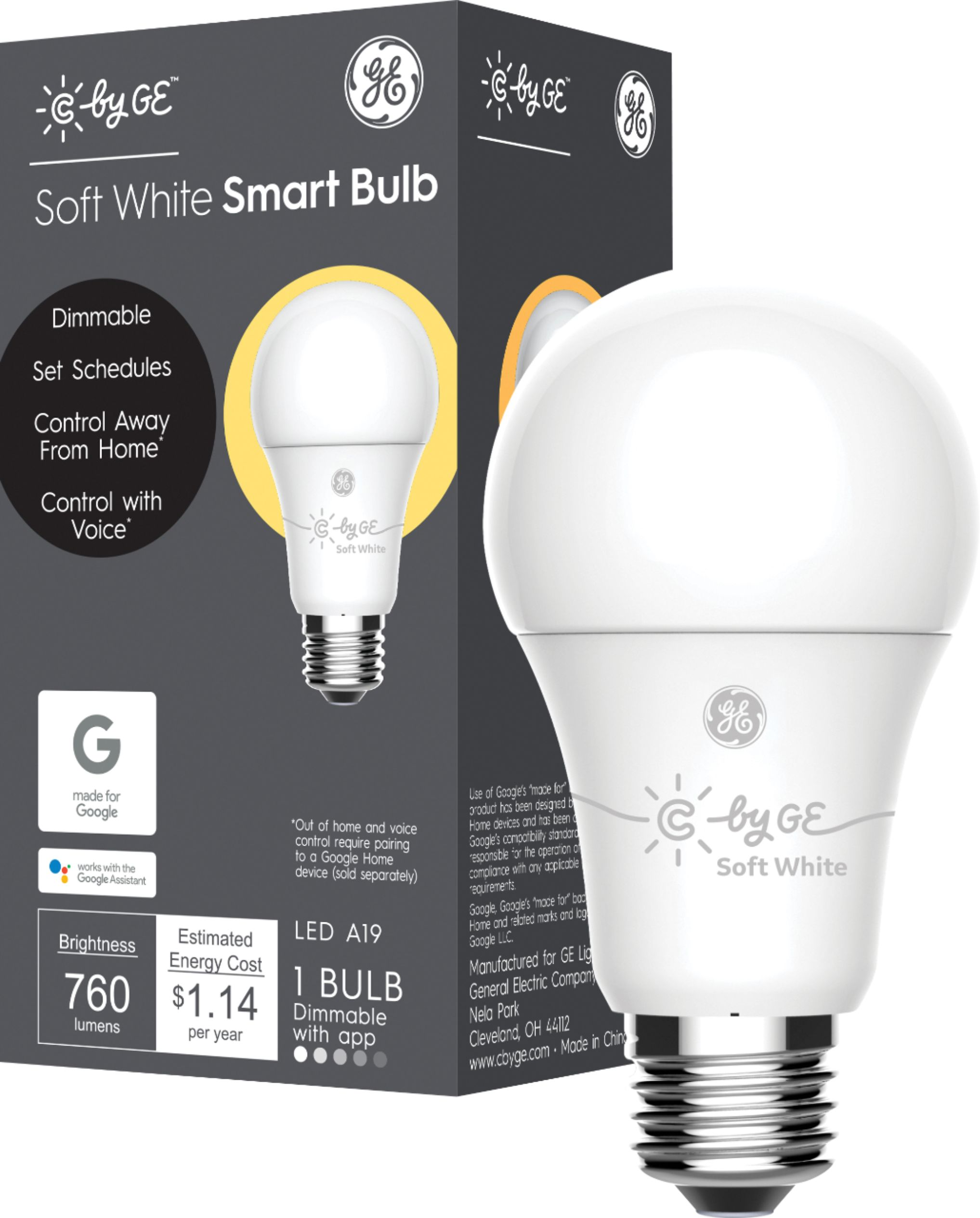 Smart Led Bulb C By Ge C Life A19 Bluetooth Smart Led Light Bulb White