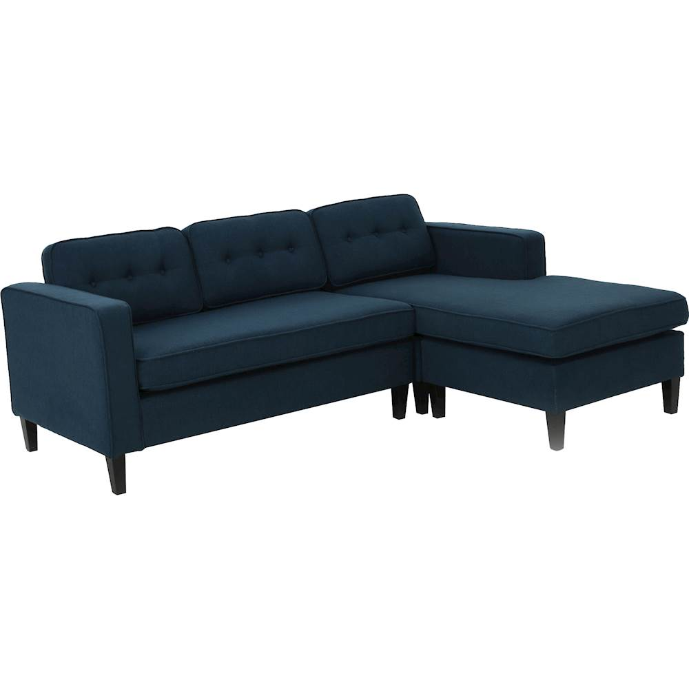 Sofa L Images Noble House Selmer L Shaped Fabric 2 Piece Sectional Sofa Navy Blue