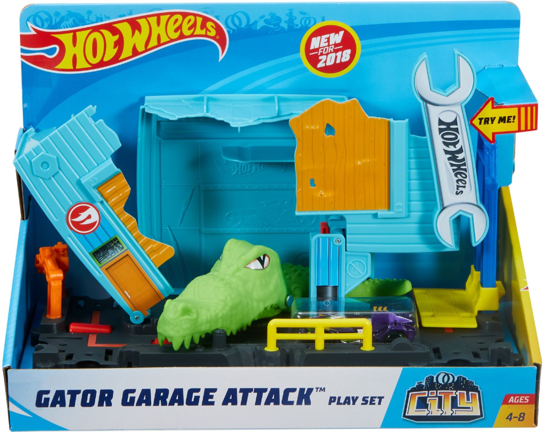 Gator Garage Wheel Protector Hot Wheels City Nemesis Attack Play Set Styles Vary