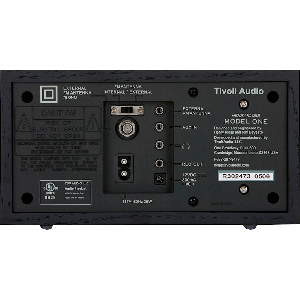 Tivoli Radio Designer Best Buy Tivoli Audio Model One Am Fm Radio Black Black Silver M1bbs