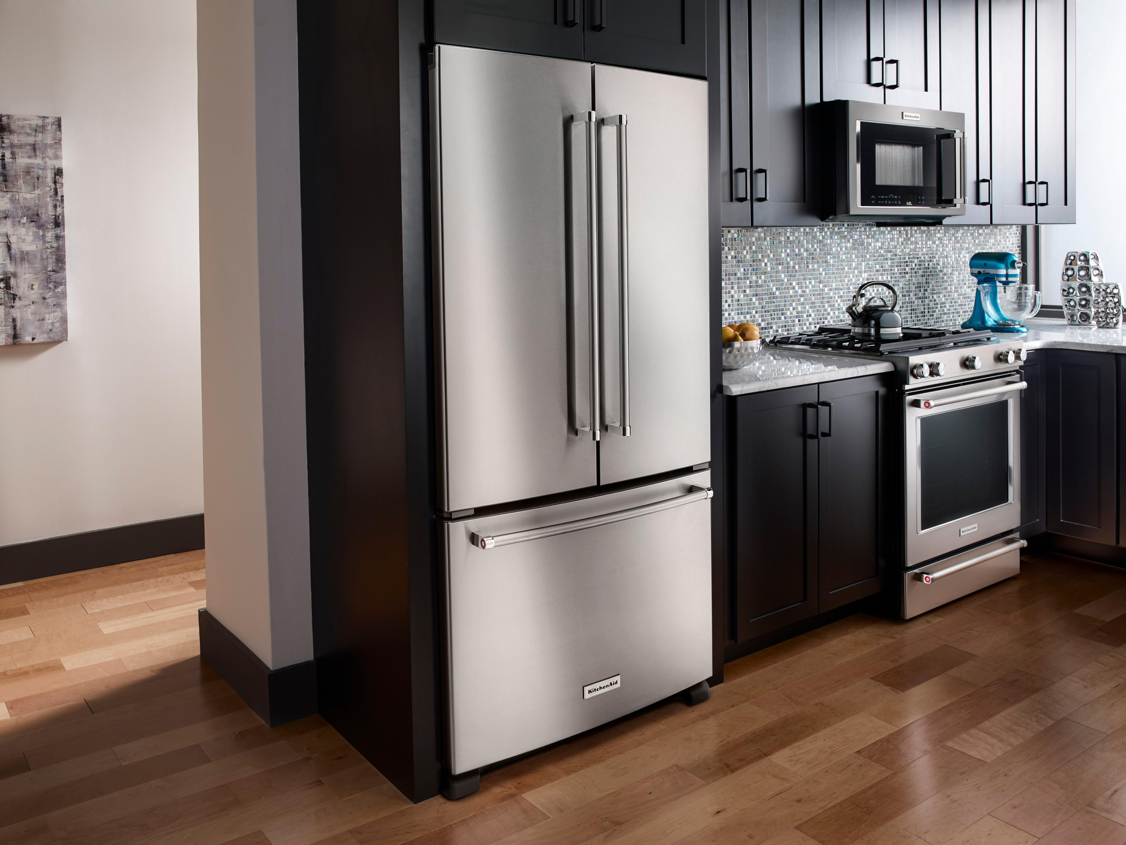Kitchenaid Krfc300ess Kitchenaid 21 9 Cu Ft French Door Counter Depth Refrigerator Stainless Steel