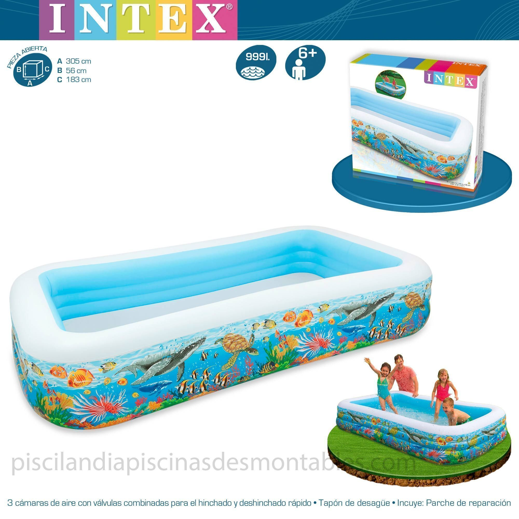 Piscina Intex Infantil Piscina Hinchable Infantil Modelo Tropical Medidas 305 X