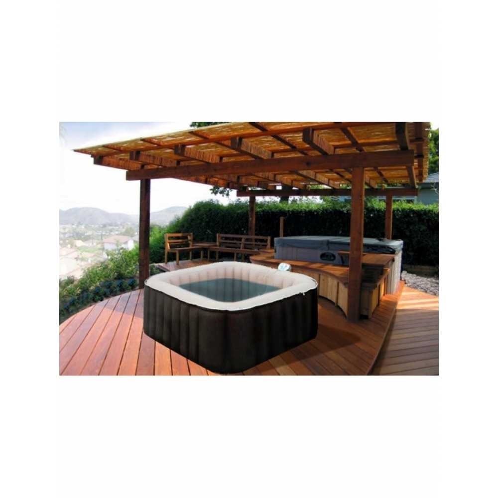 Spa 6 Places Exterieur Jacuzzi Gonflable Contour Bois Good Spa Gonflable Intex Purespa