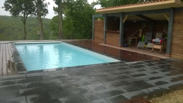 Dalle Pour Jardin Amenagement Piscine Avec Pool House