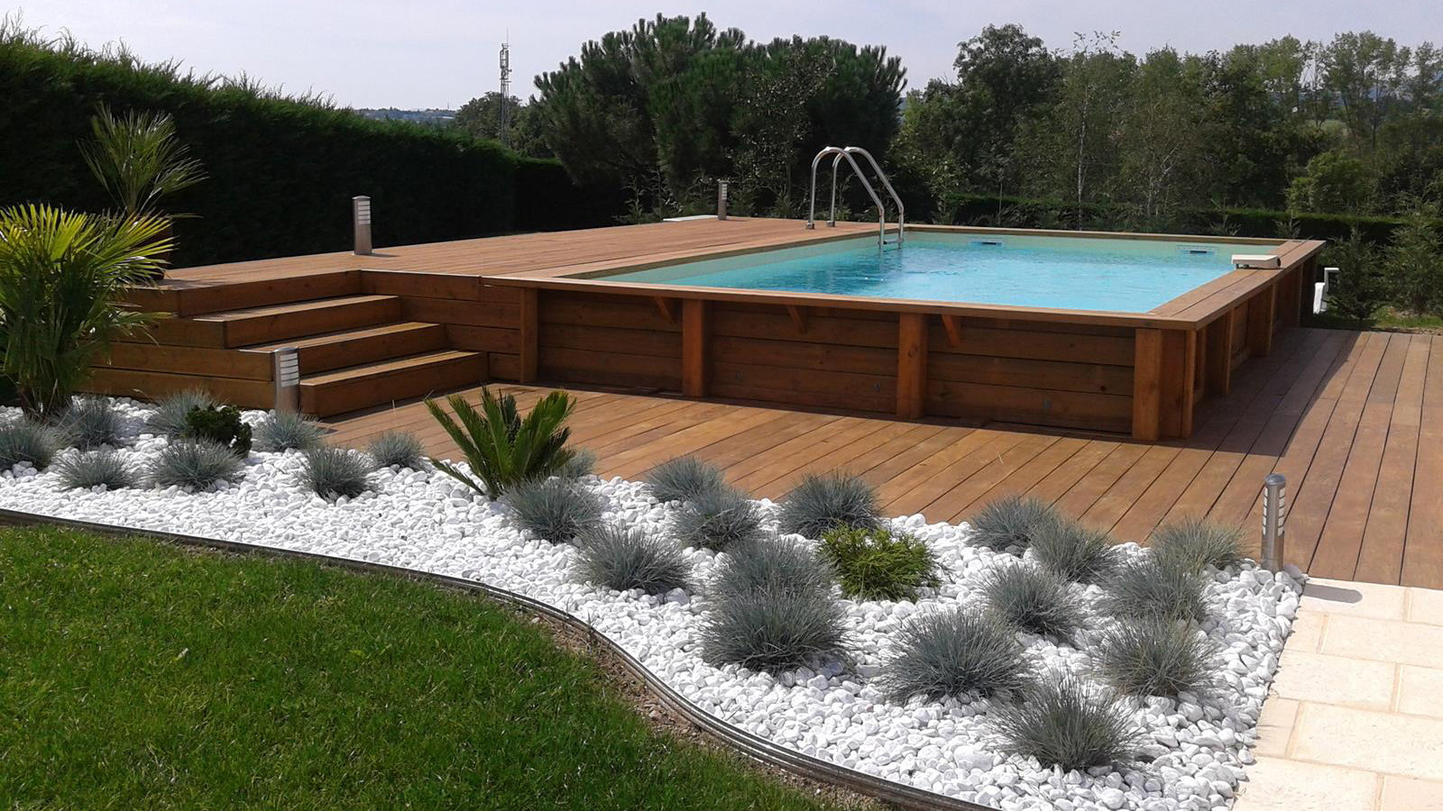 Amenagement Terrasse Ronde Amenagement Piscine Hors Sol Bois