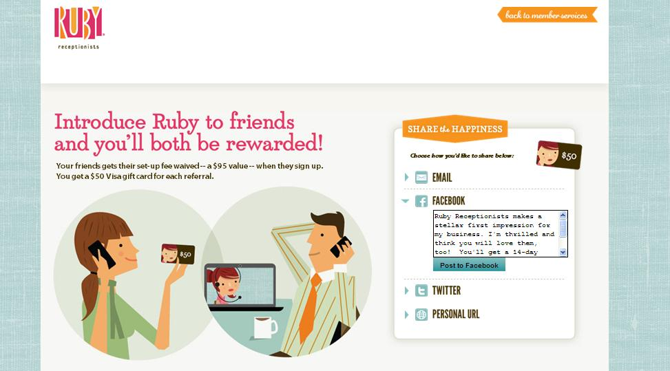 Ruby Receptionists Launches New Refer-A-Friend Program Ruby