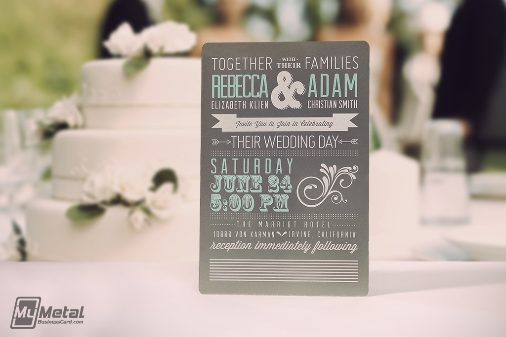 New Trend in Wedding Invitations, Save The Date Cards is Metal for