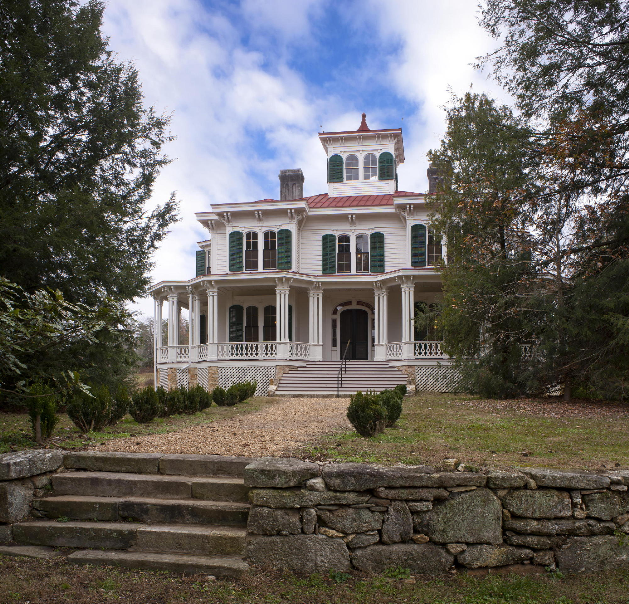 Georgian Farmhouse Design Historic Preservation Approach Characterizes 19th Century