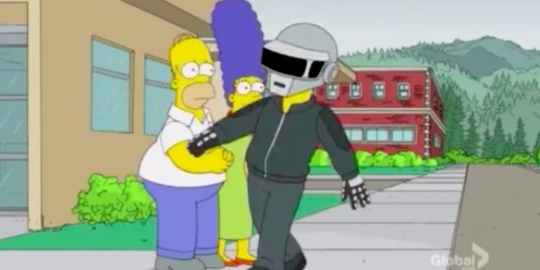 "Watch: Daft Punk on ""The Simpsons"" (Sort Of)"