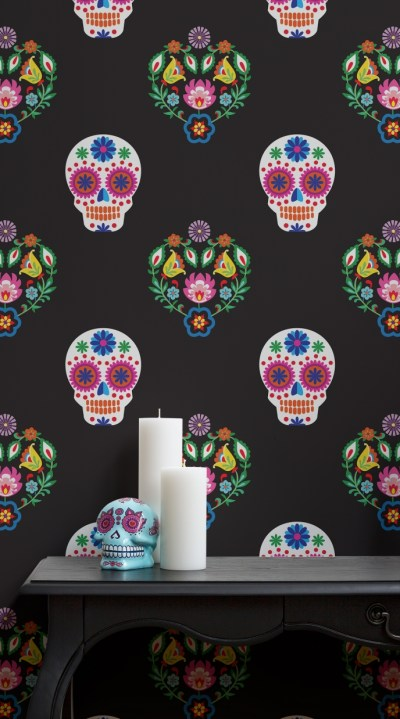 Fabulous Day of the Dead wallpaper   Pitter Pattern