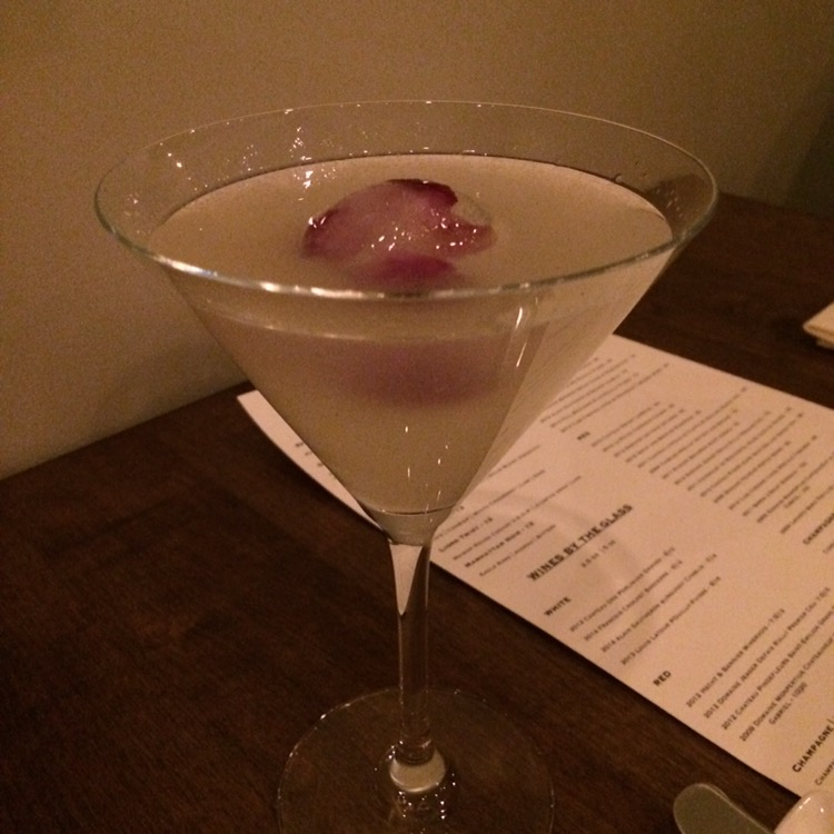 the Vogue, was a vodka, white cranberry and lime martini/Cosmo