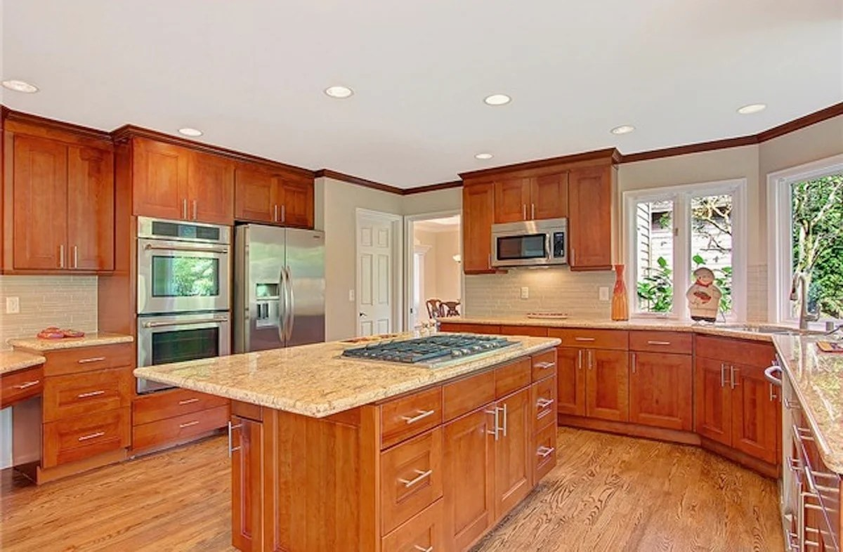 Kitchen Cabinets Cherry Wood American Cherry Double Shaker Pius Kitchen And Bath