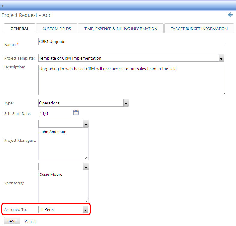 Project Insight Version 11 Feature Updates - software request form