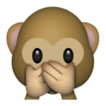 Emoji Monkey Covering Mouth