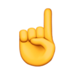 Finger Pointing Up Emoji