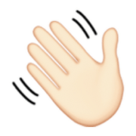 White Waving Hand Sign Emoji U FB U FFB