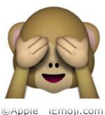 Emoji Monkey Covering Eyes