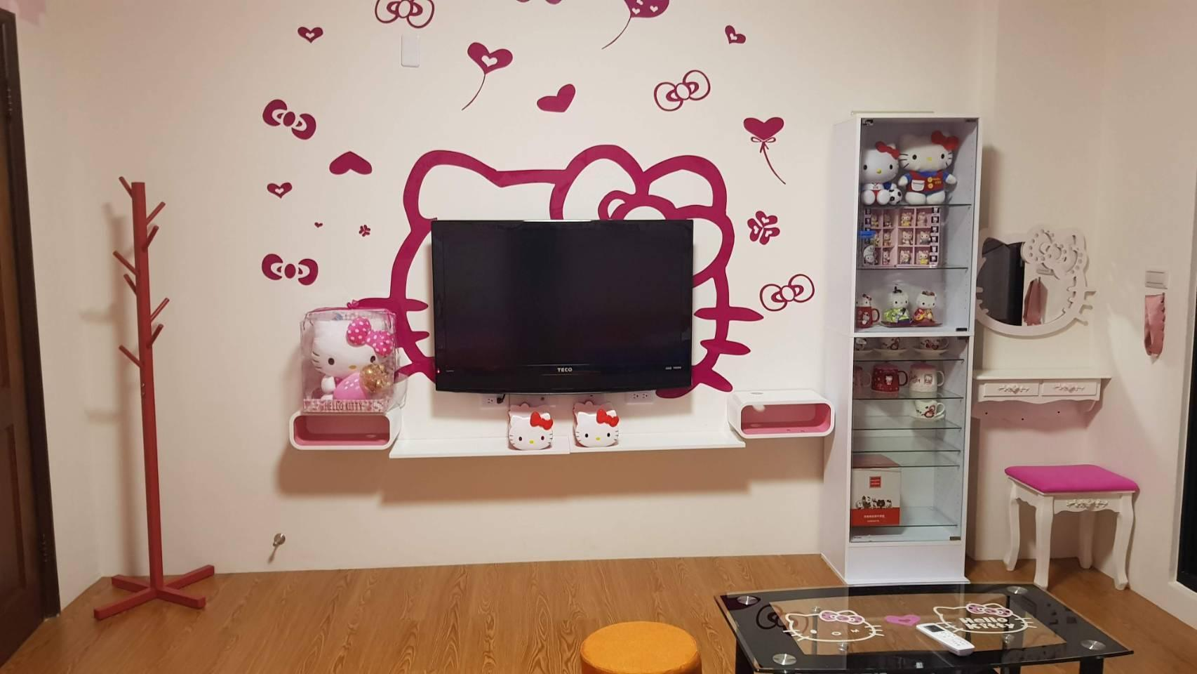 Wallpaper Kamar Hello Kitty Best Price On Hello Kitty Home In Tainan Reviews