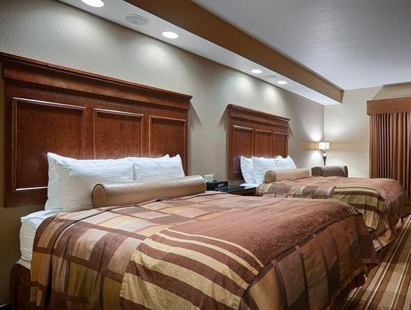Suite-2 Queen Beds Best Western Premier KC Speedway Inn and Suites