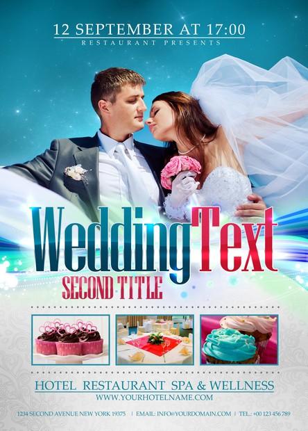 Wedding Flyer \u2013 Free PSD \u2013 PixAdvanced \u2013 4 Designers  Developers